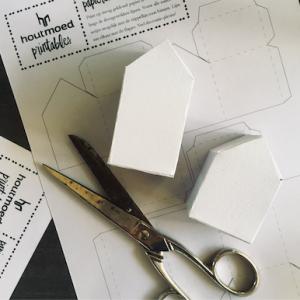 papieren huisjes om zelf te maken