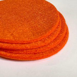 ronde vilten onderzetters oranje