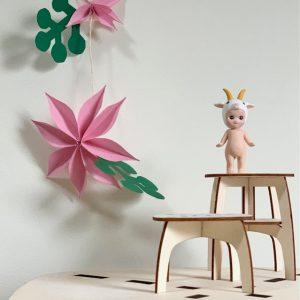 supervrolijk de lente in huis, met deze papieren bloemen printable