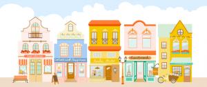 de leukste online winkelstraat van Nederland, wat een gezellige pandjes op een rij